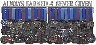 Allied Medal Hangers - Always Earned Never Given - Male or Female Runner - Multiple Medal Holder Display Rack
