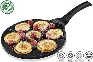 Gourmia GPA9510 Blini Pan Nonstick Silver Dollar Pancake Pan With 7-Mold Design 100% PFOA..