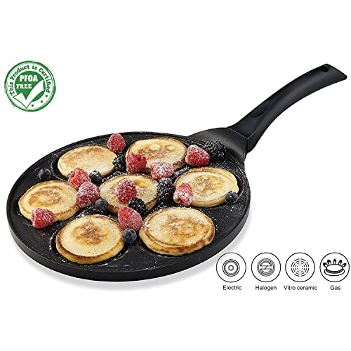 Gourmia GPA9510 Blini Pan Nonstick Silver Dollar Pancake Pan With 7-Mold Design 100%