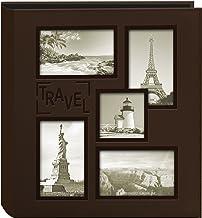 Pioneer Photo Albums Álbum de fotos de viagem em relevo com moldura de colagem, marrom