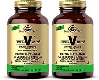 Solgar Formula VM-75, 120 Vegetable Capsules - Pack of 2 - Vitamin A, B6, B12, C, D, E - Biotin, Magnesium, Calcium, Coppe...