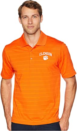 Clemson Tigers Textured Solid Polo