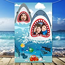 Shark Zone Backdrop Supplies Shark Photography Background Shark Theme Party Birthday Party Baby Shower Photo Booth Backdrop for Large Party Decoration (70.8 x 35.5 Inch)