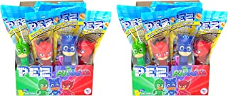 Pez PJ Masks Dispensers Individually Wrapped Candy and Dispensers with Tru Inertia Kazoo (24 Pack)