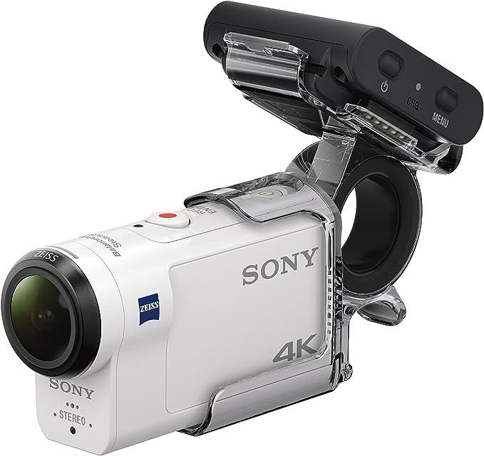 Sony FDRX3000R Kit de Cámara Action CAM 4K y Grip para Dedo AKAFGP1 Blanco/Negro