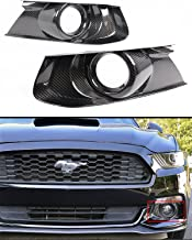Cuztom Tuning Fits for 2015-2017 Ford Mustang GT S550 Real Carbon Fiber Front Bumper Fog Light Bezel Cover