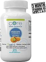 Liposomal Vitamin C Softgels 1000mg/dose - 3 Month Supply - 270 softgels - China-Free Quali®-C Scottish Ascorbic Acid - High Absorption Immunity & Collagen Booster Supplement - Non-GMO, Non-Soy