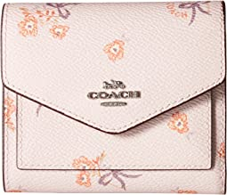 Small Wallet With Floral Bow Print