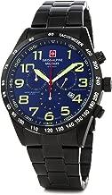 Swiss Alpine Military by Grovana Hombre Reloj Chrono 10ATM Black IP Blue 7047.9175sam