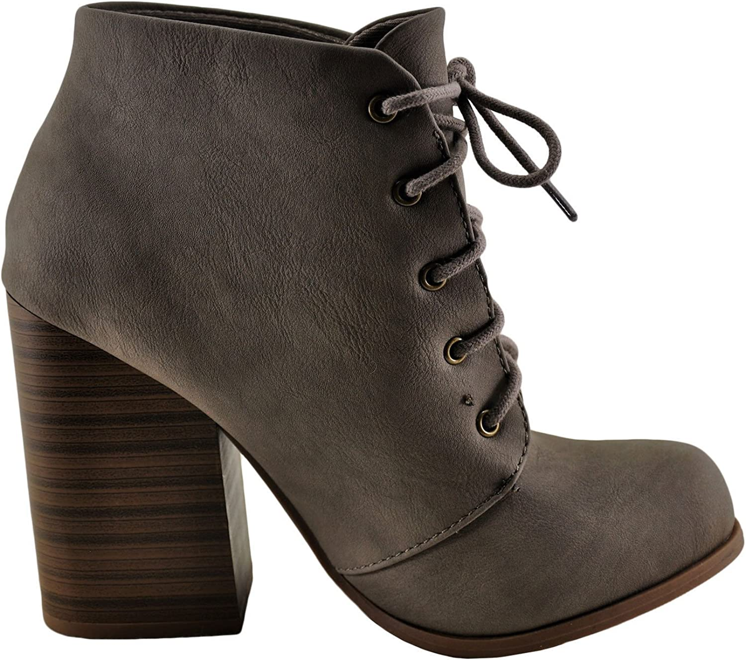 Speed Limit 98 Zilpah Women's Lace Up Stacked Heel Bootie