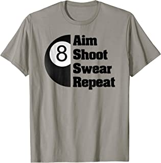 Funny Billiards T-Shirt Gift for 8-Ball Pool Player