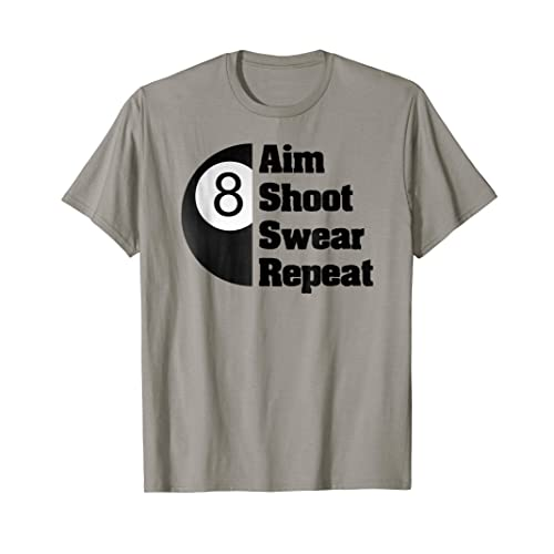 a2f14b67d2 Funny Billiards T-Shirt Gift for 8-Ball Pool Player