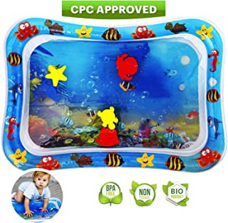 Toysiki Premium Tummy Time Inflatable Water Play Mat for Ages 3-12 Months Babies - Best Toy for Infants and Toddlers Playmat Activity Gym - Early Stimulation Sensory Toys Baby Activity Center