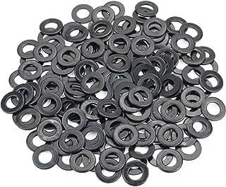 Sutemribor Black Zinc Plated Alloy Flat Washer 100 PCS