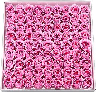 ピンク ソープフラワー ギフト ボックス バラ 薔薇 プレゼント 造花 枯れない花 入浴剤 インテリア 誕生日 お祝い ギフトボックス 81個