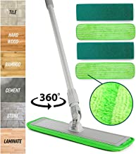 Microfiber Mop Floor Cleaning System - Washable Pads Perfect Cleaner for Hardwood, Laminate & Tile - 360 Dry Wet Reusable ...
