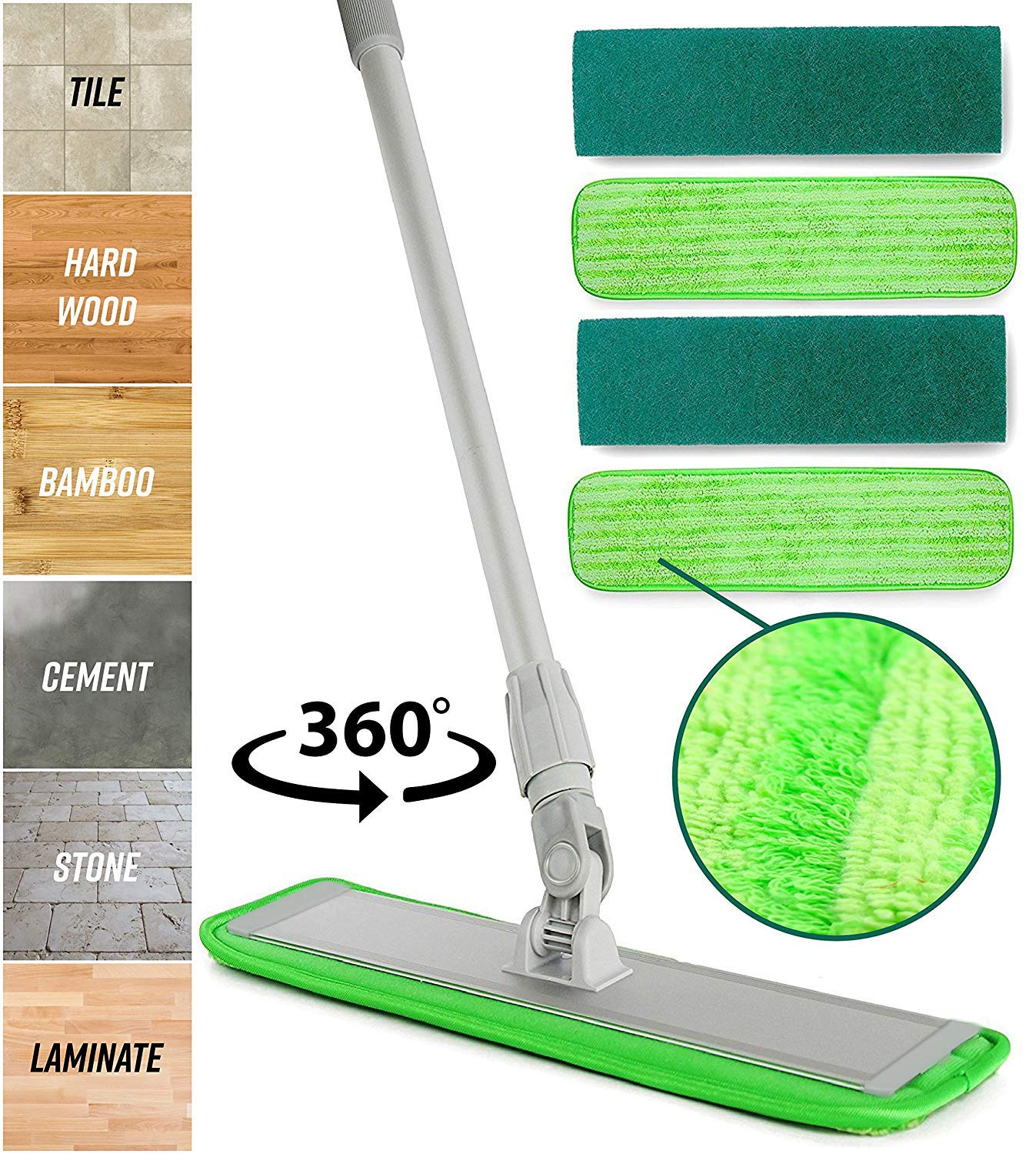 Microfiber Mop Hardwood Floor Cleaning