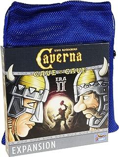 Cave Vs Cave- Era II Expansion (for Caverna Cave vs Cave Game) - Bonus Nylon Mesh Blue Drawstring Carry Bag - Bundled Items