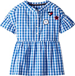 Tommy Hilfiger Kids - Gingham Ruffle Top (Big Kids)