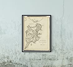 1775 Map Boston A New and Correct Plan of The Town of Boston As an Example of Late 18th-Century Brit|Vintage Fine Art Reproduction|Ready to Frame