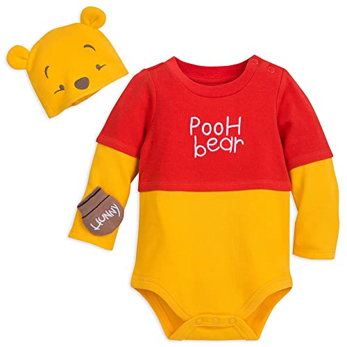 82ff19fc8 Disney Winnie The Pooh Costume Bodysuit with Hat for Baby Size 0-3 MO Multi