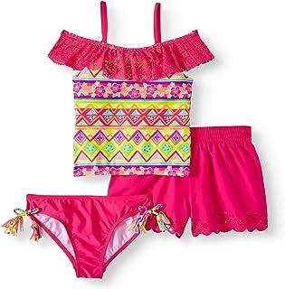 ca4791f8b1 Wonder Nation Girls 3 Pc Tankini Swimsuit w Shorts Size Med 7/8