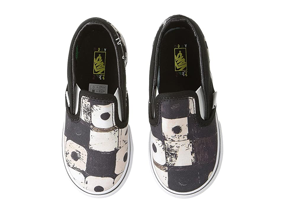 Vans Kids Classic Slip-On x A Tribe Called Quest (Infant/Toddler) ((ATCQ) Black) Kids Shoes