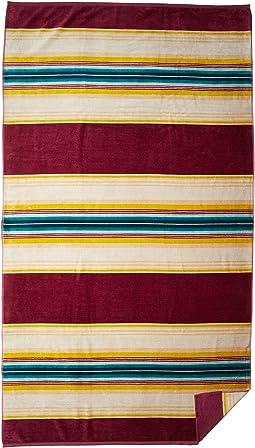 Oversized Serape Stripe Beach Towel