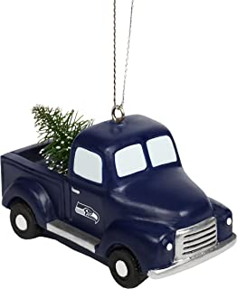 FOCO NFL Unisex Team Logo Holiday Christmas Resin Truck with Tree Ornament