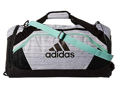 adidas Team Issue II Medium Duffel (White Two-Tone/Black/Clear Mint) Duffel Bags