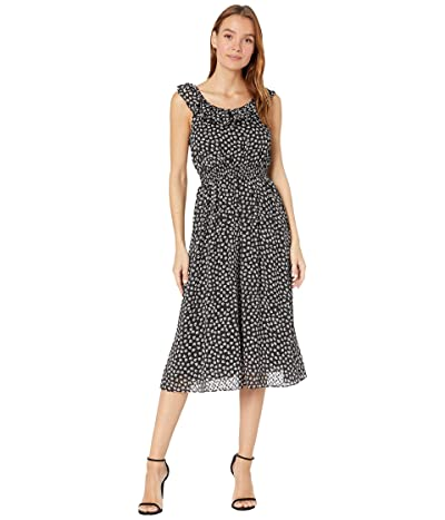 Madewell Ruffle Neck Midi Dress (Marlow Floral Almost) Women
