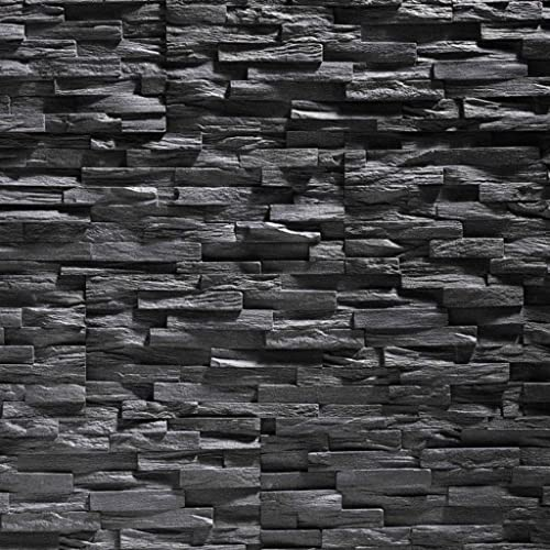 polystyrene foam tiles stone cladding UltraLight - Benevento anthracite / stone cladding / wall decor / tiles / wall cladding
