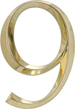 Whitehall Products Classic 6 Inch number 9 Polished Brass, 6 Inch