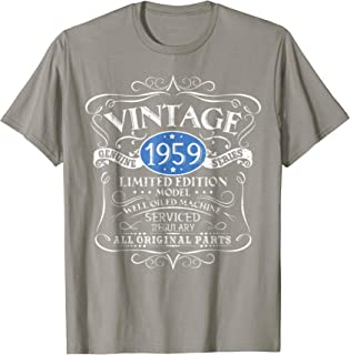 Vintage 1959 60th Birthday All Original Parts Gift T-Shirt