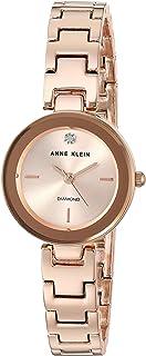 Anne Klein Women's AK-3150RGRG Rose-Gold Metal Analog Quartz Dress Watch