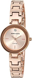 Anne Klein Women's  Diamond-Accented Rose Gold-Tone Bracelet Watch