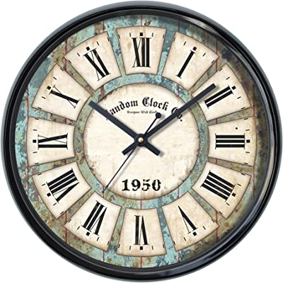 Random Tuff Round Plastic Wall Clock (30 cm x 30 cm x 5 cm, Black)