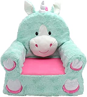 Sweet Seats 49226 Adorable silla mono suave para niños, Teal Unicorn