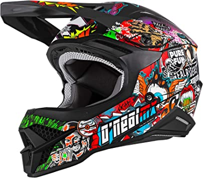 O Neal Motocross Helm Mx Enduro Motorrad Abs Schale Sicherheitsnorm Ece 22 05 Lüftungsöffnungen Für Optimale Belüftung Kühlung 3srs Helmet Crank 2 0 Erwachsene Multi Größe Xs Auto