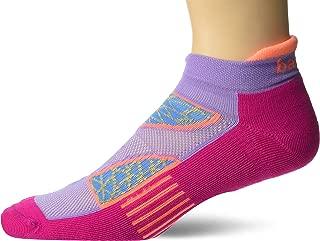 Balega Women's Enduro V-Tech No Show Socks (1 Pair), Lavender/Electric Pink, Medium