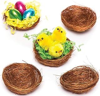 Baker Ross Mini Nids d'oiseaux pour poussins tout doux et décorations de Pâques (Lot de 15)