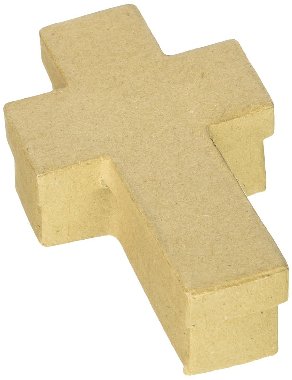 Darice, 5 Inch, Paper Mache Box, Cross Design