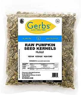 Raw Pumpkin Seed Kernels, 2 LBS by Gerbs – Top 14 Food Allergy Free & NON GMO - Vegan, Keto Safe & Kosher - Premium Quality