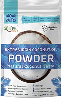FtiMCT Extra Virgin Coconut Creamer, Natural Coconut Flavor, 20 Days Supply, Non Net Carbs, With Probiotics, Keto coffee C...