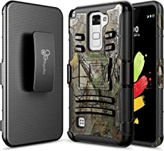 NageBee LG Stylo 2 Case, Stylo 2V /Stylus 2 /Stylo 2 LTE (L81AL L82VL), Belt Clip Holster Defender Heavy Duty Shockproof Kickstand Dual Layer Combo Rugged Armor Durable Case -Camo
