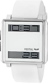 Vestal Men's TRADR05 Transom Digital Display Japanese Quartz White Watch