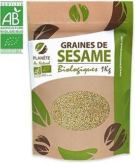 Biologisch sesamzaad, 1 kg (Sesamum indicum), blond, compleet