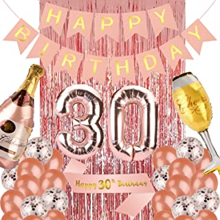 30th Birthday Decorations for Women, Rose Gold 30...