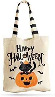 Halloween Trick or Treat Tote Bag Reusable for Candy Gifts Grocery Shopping