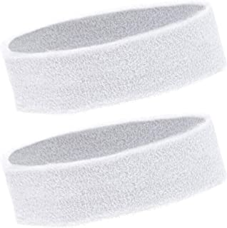 Bright Creations Sweat Band Headbands (24 Count), White
